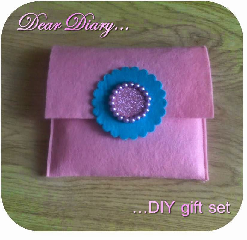 diary gift set, DIY, how to