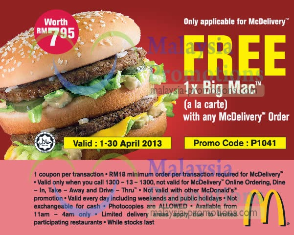 Free mac d coupons