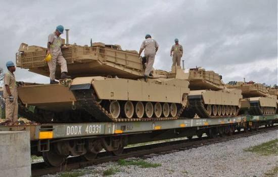 Tank Abrams diangkut