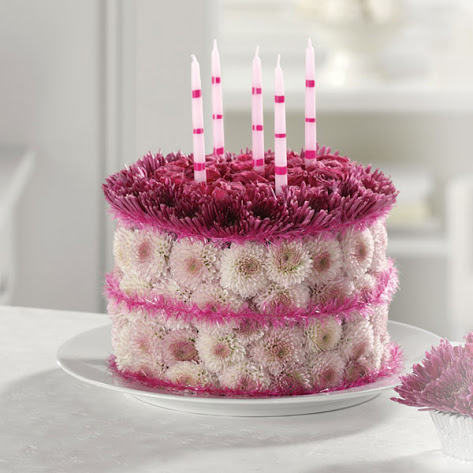 Wallpapers on 3d Wallpaper  Happy Birthday Flower Cake