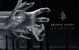 Album cover for the 2011 Skinny Puppy album, haNdover