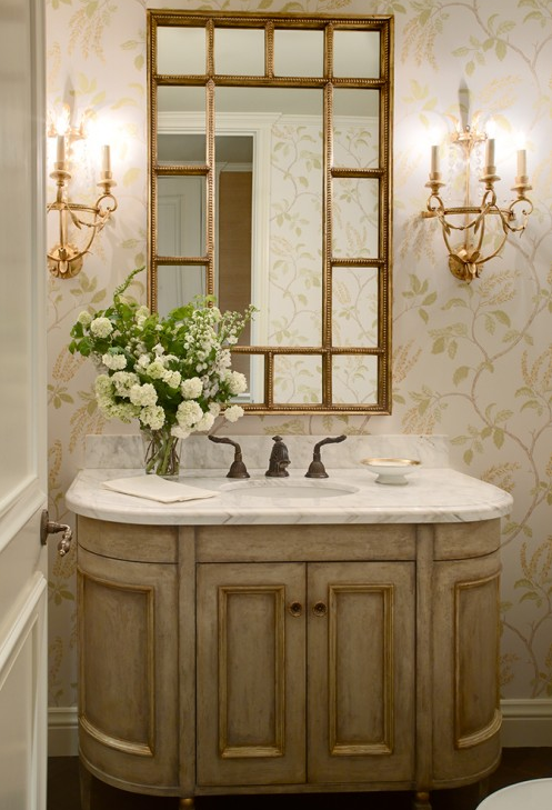Color Outside the Lines: Powder Room : Lighting