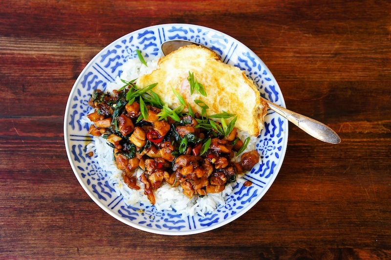 Seasaltwithfood thai basil chicken thai basil chicken is one of those amazing dish that is so easy and quick to whip up just make sure you have plenty of steam rice ready as this stir fry forumfinder Image collections