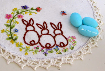 Easter bunny embroidery