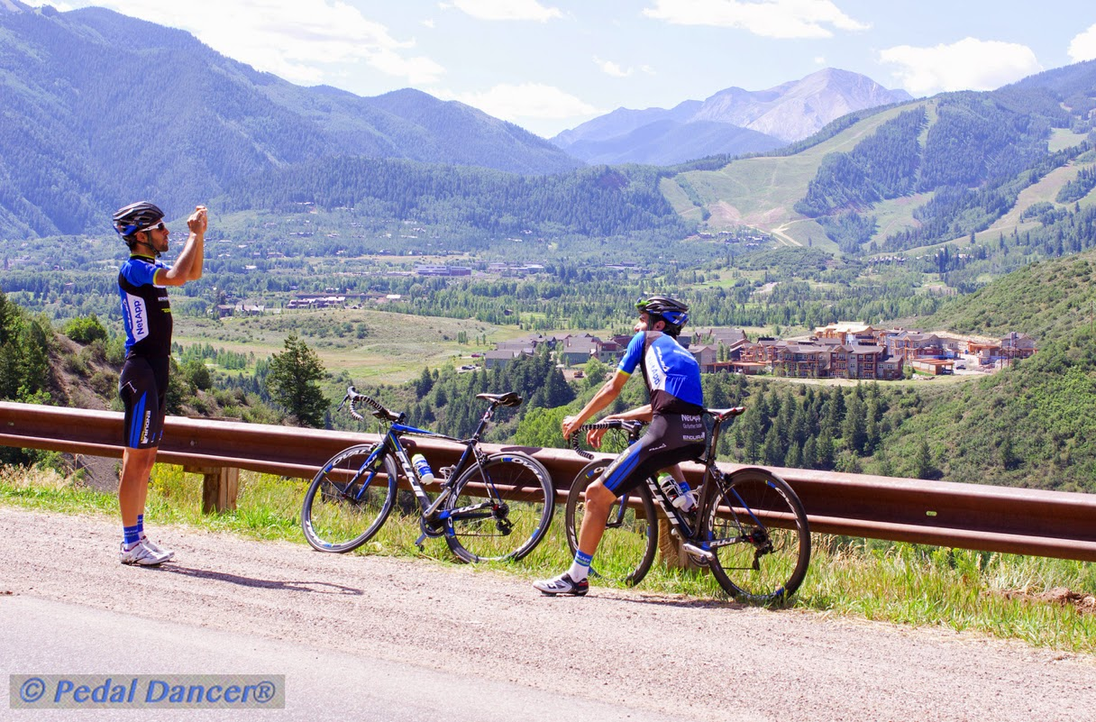 Pros riding in Aspen Colorado, Pedal Dancer