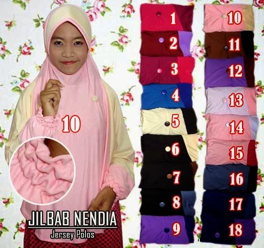 Jilbab tanggan polos terbaru dengan banyak pilihan warna menarik