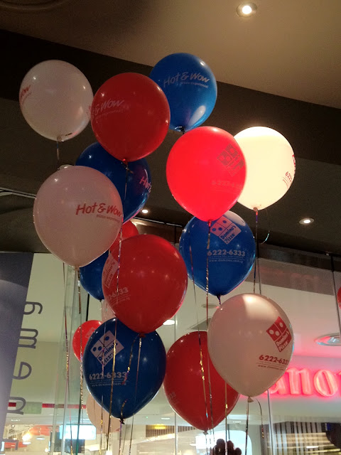 domino's pizza singapore, balloon