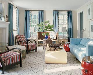 Ver cortinas para sala na cor azul