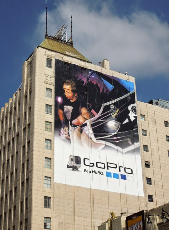 Giant GoPro guitar billboard