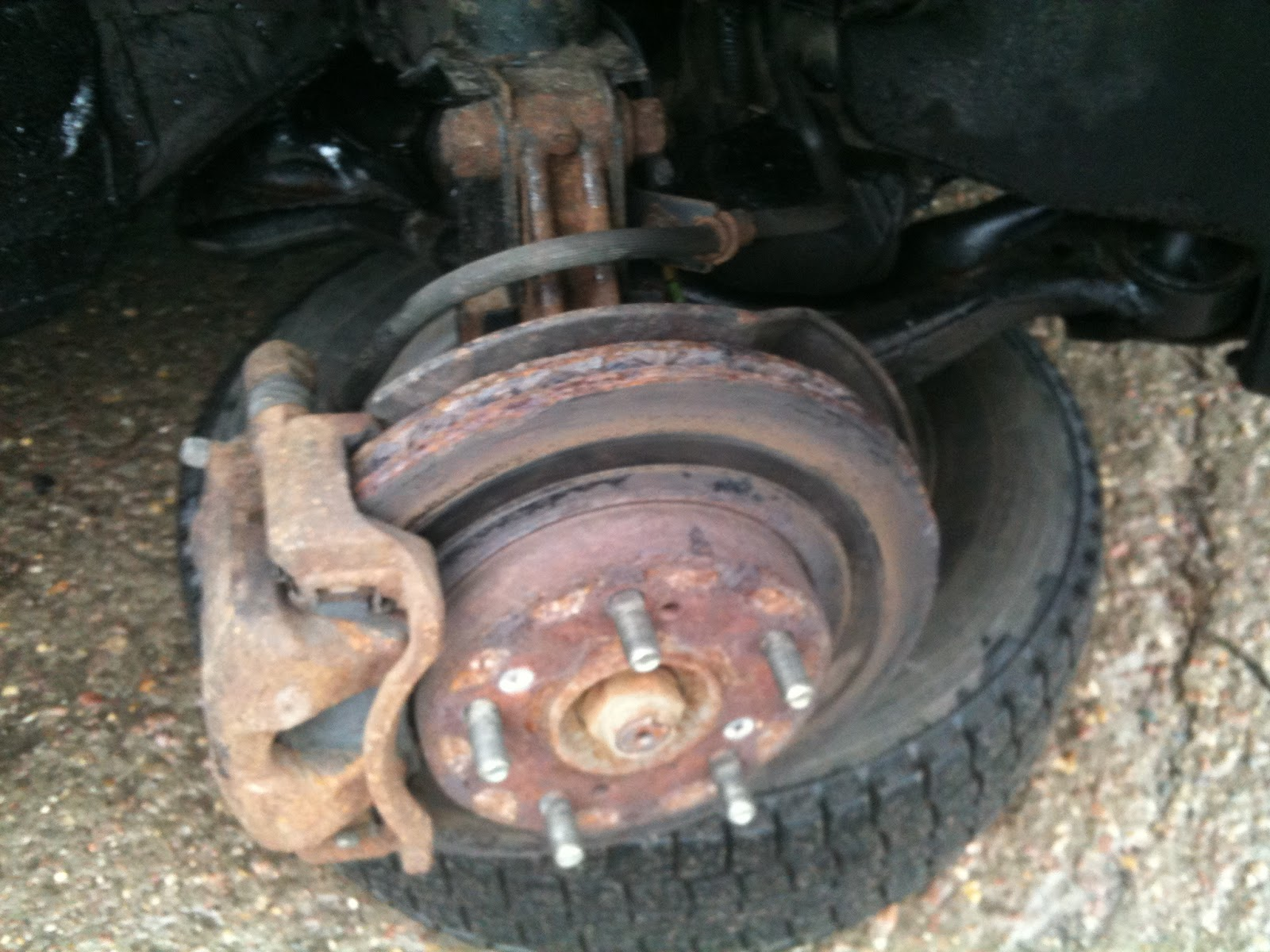 How to remove the brake disc 67
