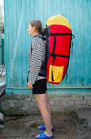 легкий самодельный туристический рюкзак