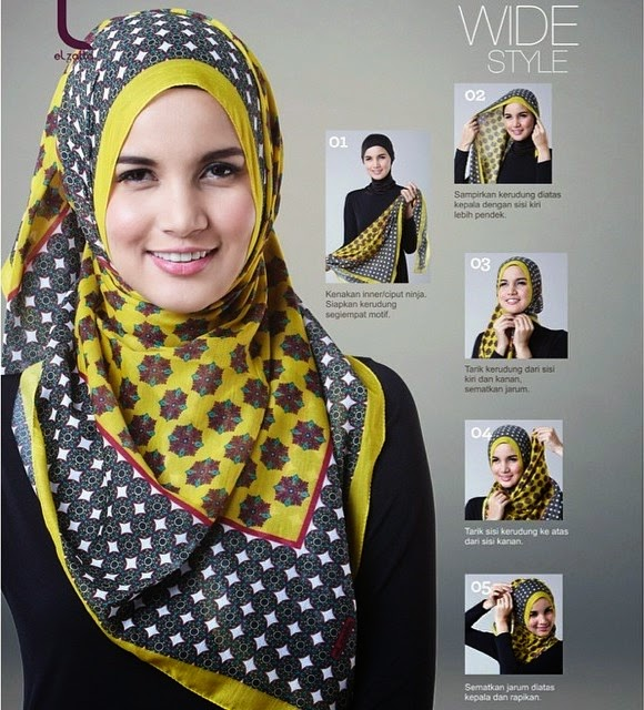 Hijab Segiempat Model | hairstylegalleries.com