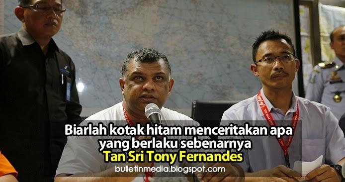 Biarlah kotak hitam menceritakan apa yang berlaku sebenarnya – Tan Sri Tony Fernandes
