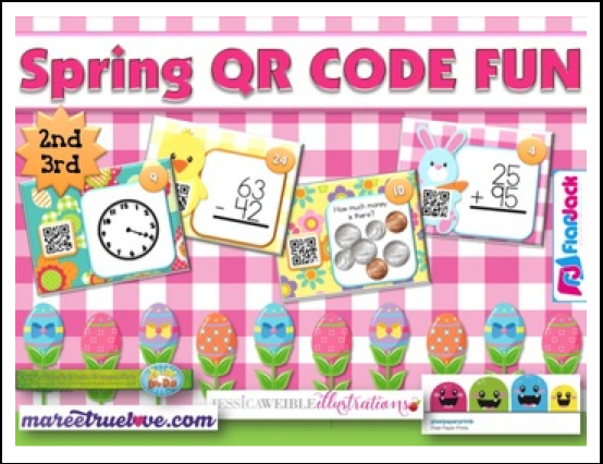 http://www.teacherspayteachers.com/Product/SPRING-Math-Fun-QR-Code-Task-Card-Bundle-2nd-3rd-grade-1176598