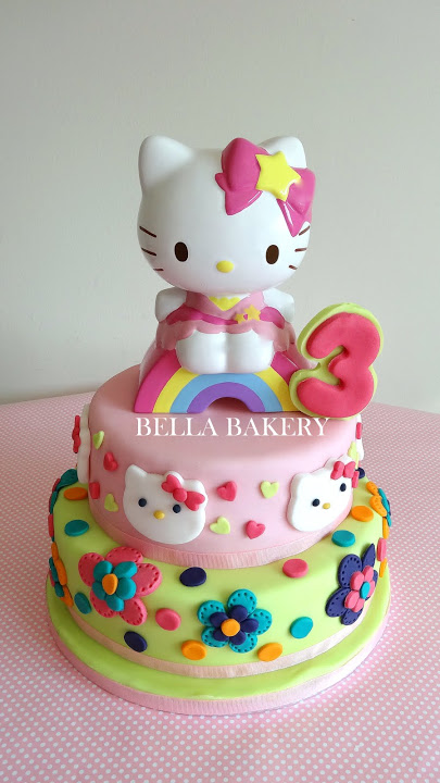 Cake Designs Of Hello Kitty : -: HELLO KITTY CAKE (DESIGN AND CERAMIC FIGURINE PROVIDED ...