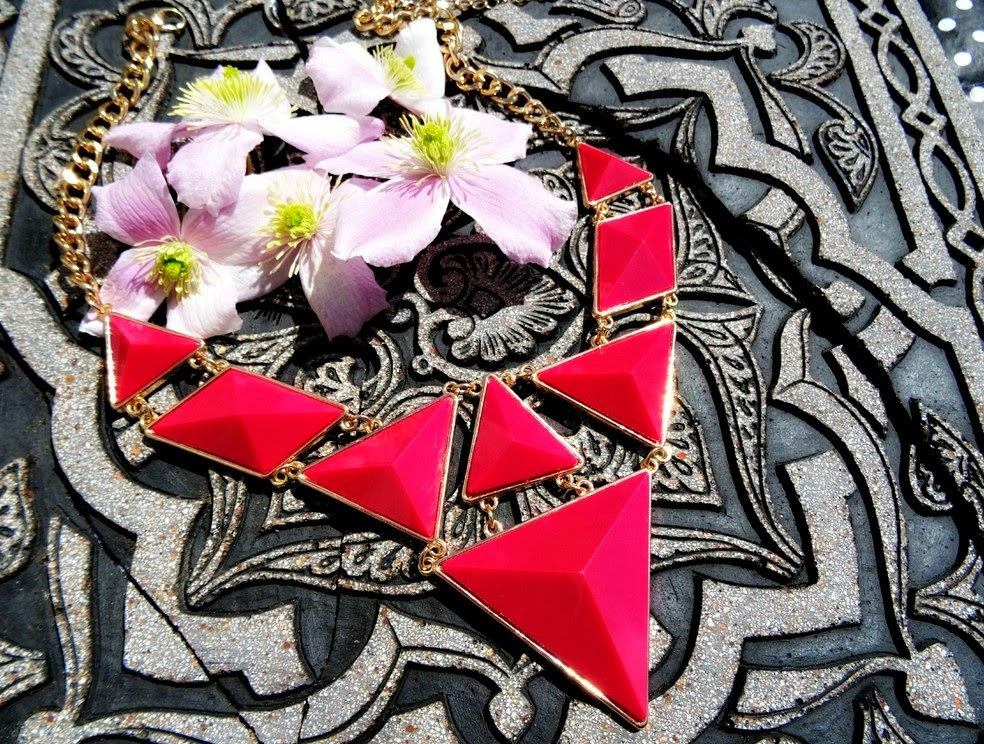 Statement triangle necklace from Select