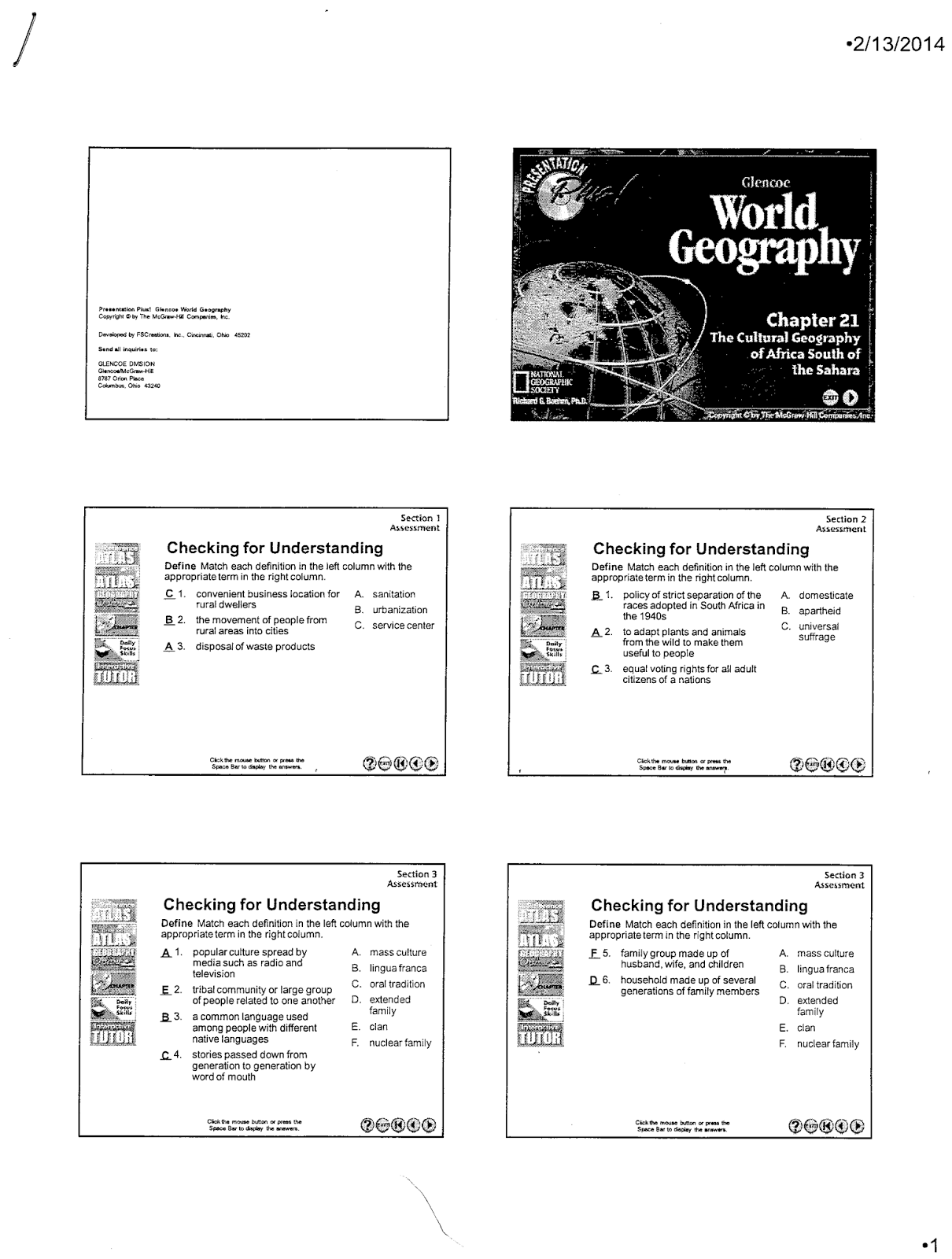 Mr es world geography page world geography chapter 21 the chapter 21 classwork sciox Gallery