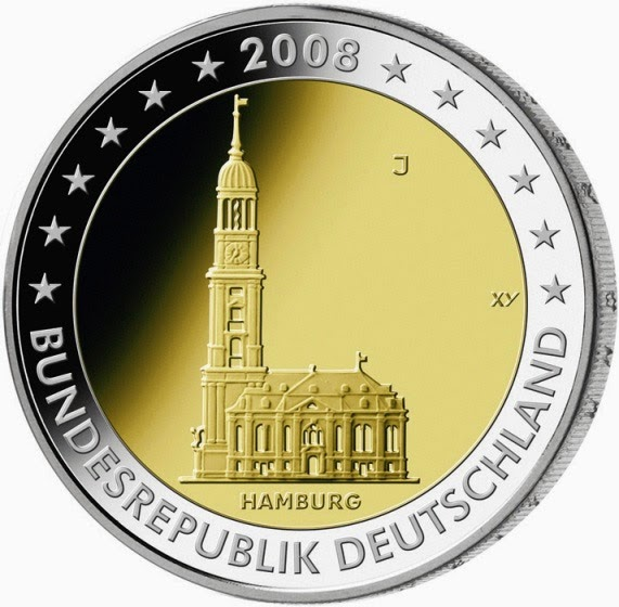 2 euro Germany 2008, Hamburg