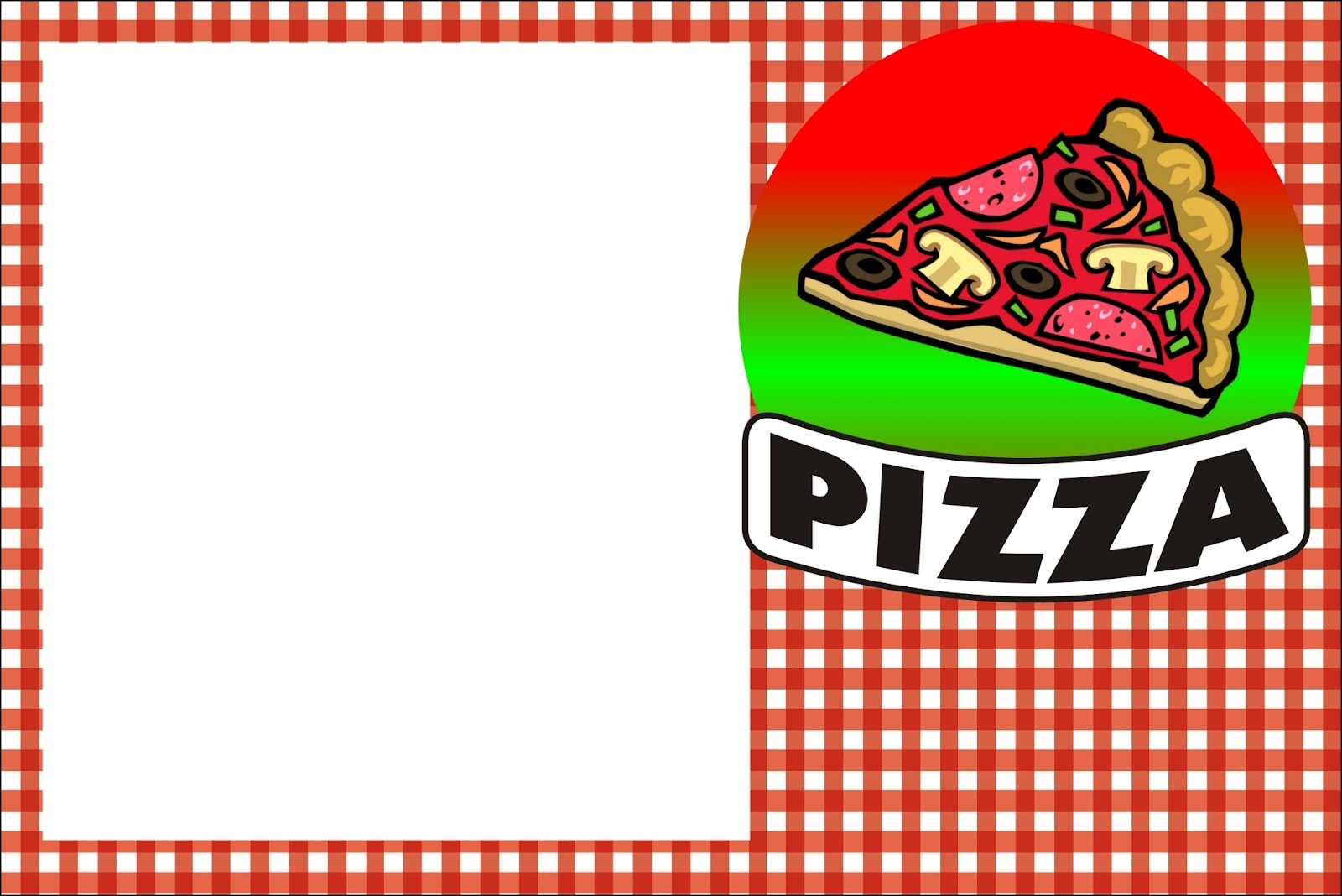 Pizza party template free