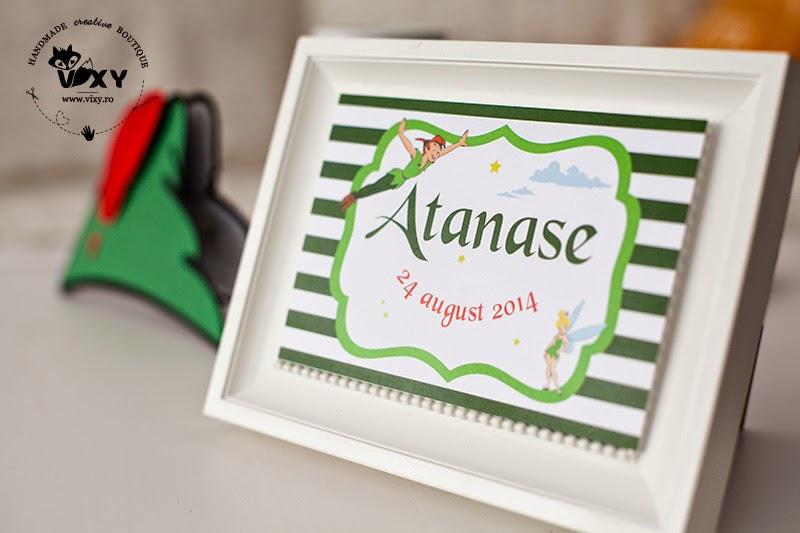 petreceri tematice Peter Pan, produse personalizate Peter Pan, candy bar Peter Pan, papetarie personalizata botez