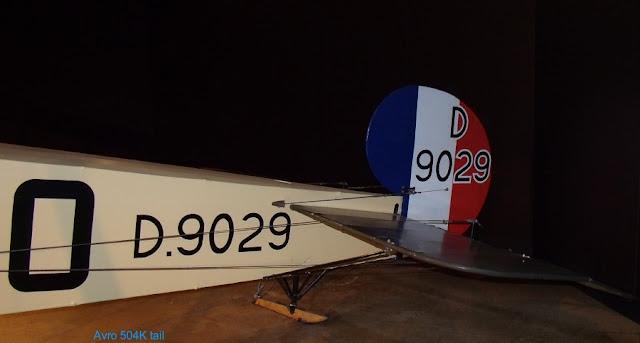 Avro 504K tail