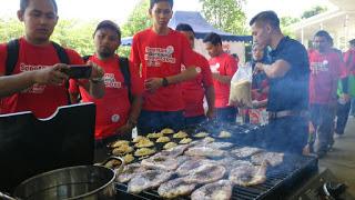 Kambing Bakar BBQ di Treasure Hunt SBB Yeos 2015