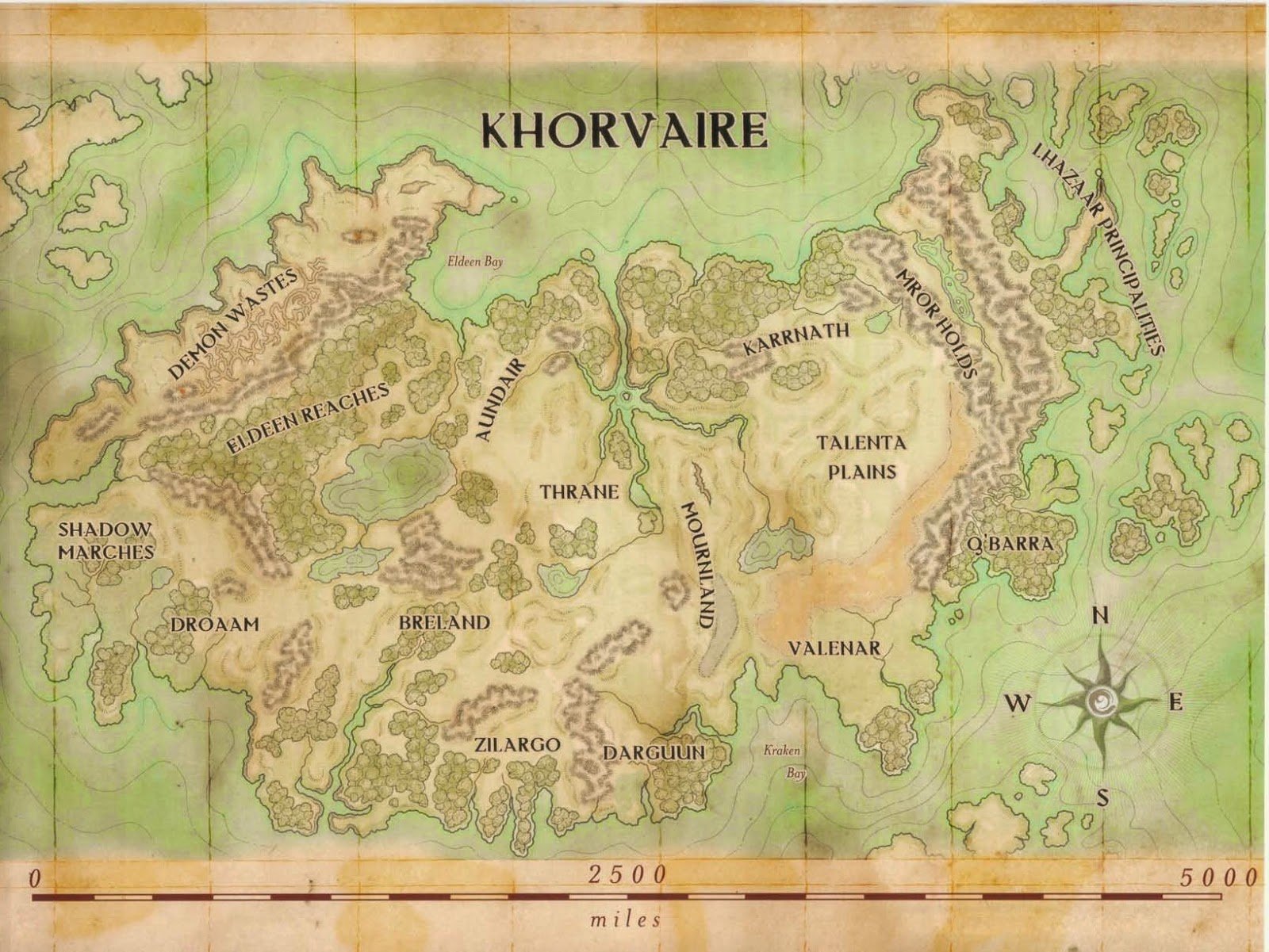 Delightful Map Of Khorvaire