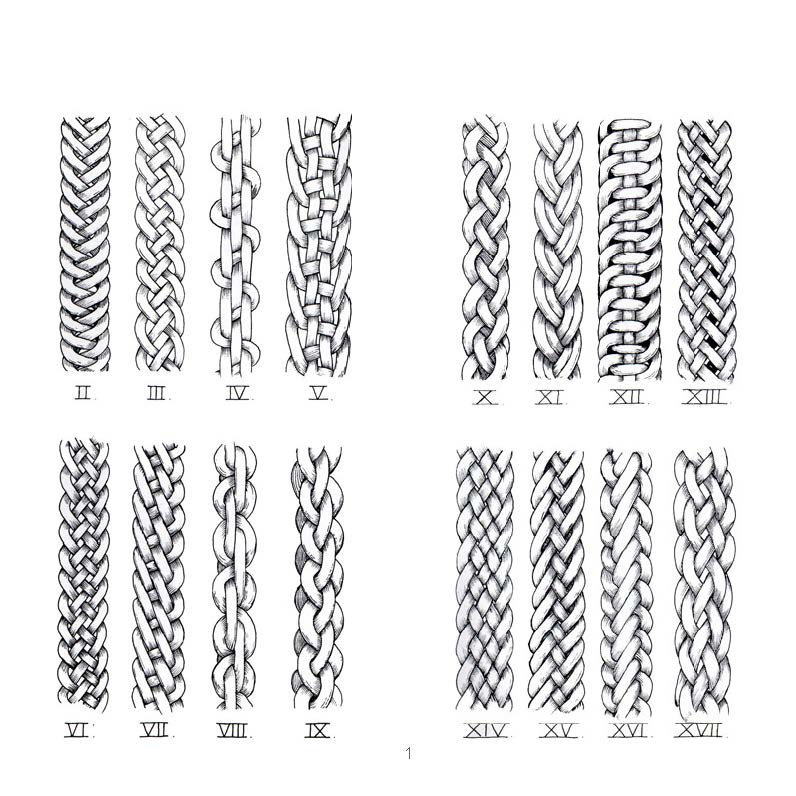 design and wool  plaits and sennit strands