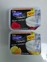 Sahnejoghurt auf Himbeeren, Sahnejoghurt auf Zitrusfrüchten