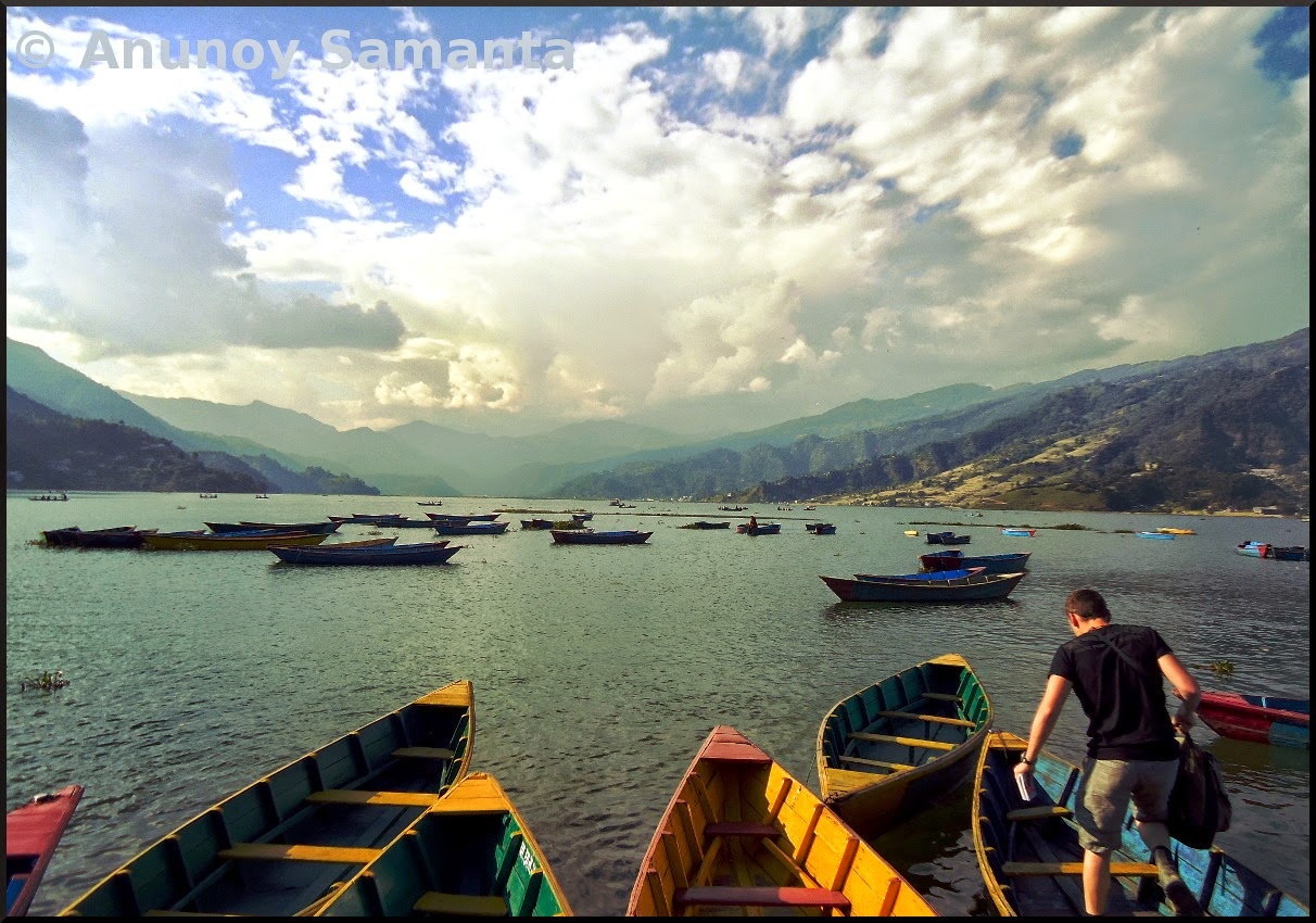 Colorful Boats over Phewa Lake