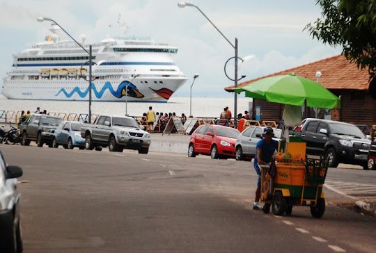 Figura carimbada no porto de Santarém, no oeste do Pará