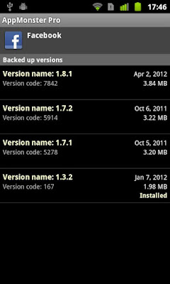 AppMonster Pro Backup Restore apk - Android application manager