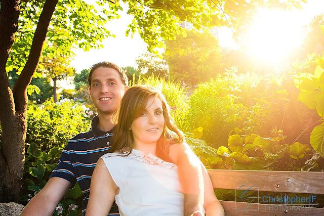 Chicago Golden Sun Engagement Photo