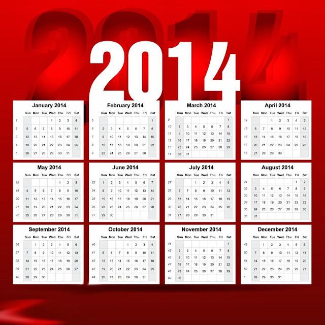 Printed Calendar 2014