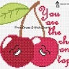 you are the cherry on top valentine cross stitch chart
