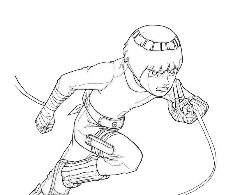 Naruto Rock Lee Character