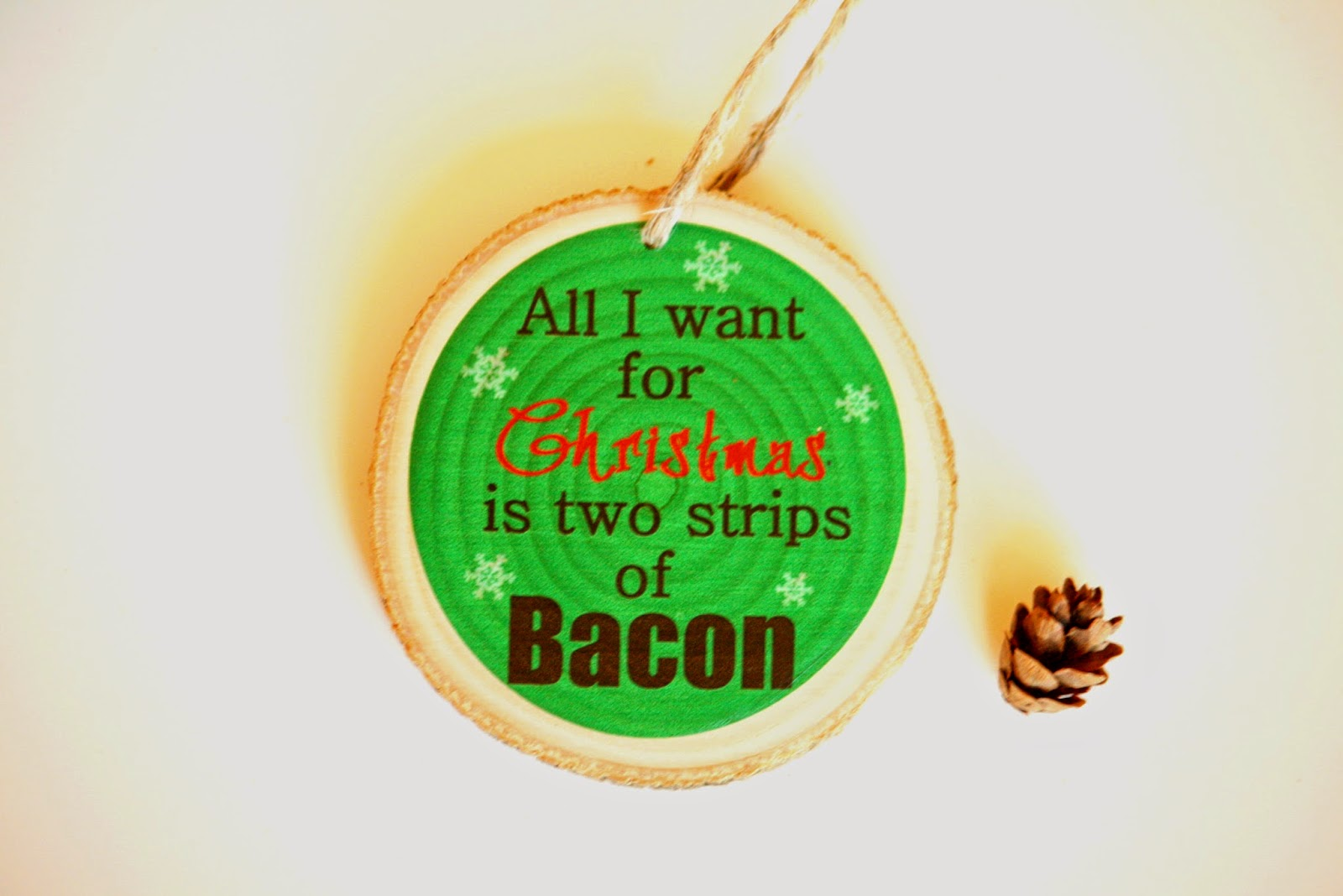 Bacon ornaments funny ornaments quirky ornaments gag for Quirky ornaments