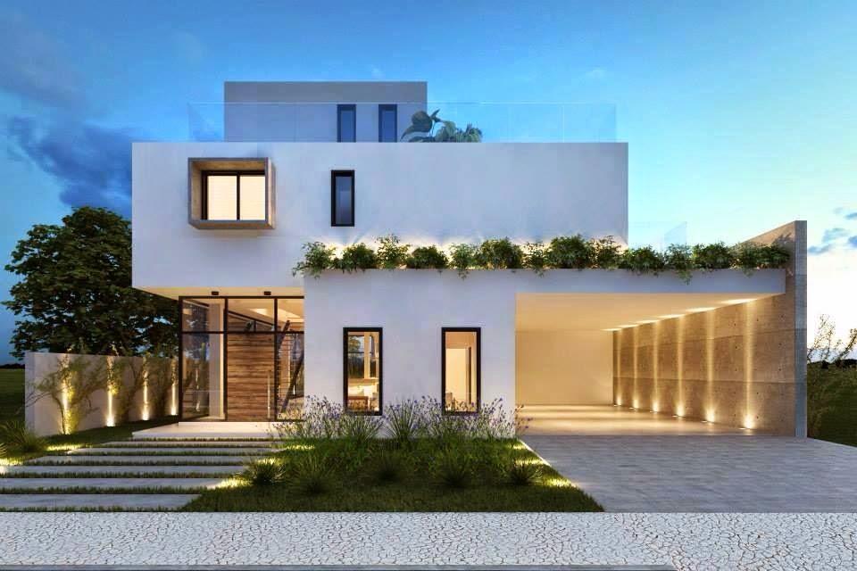 Construindo minha casa clean 30 fachadas de casas for Fachadas casas modernas