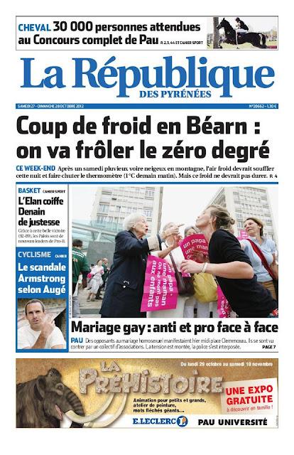 République des Pyrénées du samedi 27 octobre 2012