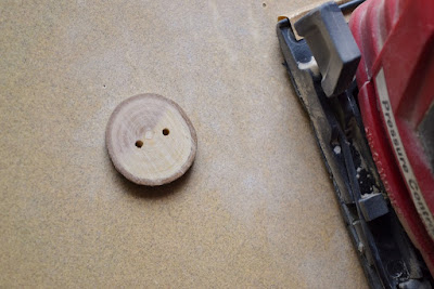 You can make your own wood buttons! DIY wood button tutorial, Over The Apple Tree