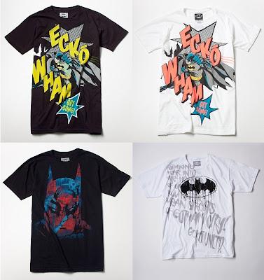 DC Comics x Ecko Unltd. Batman T-Shirt Collection - Black Wham, White Wham, City Run & White Mean Streets T-Shirts