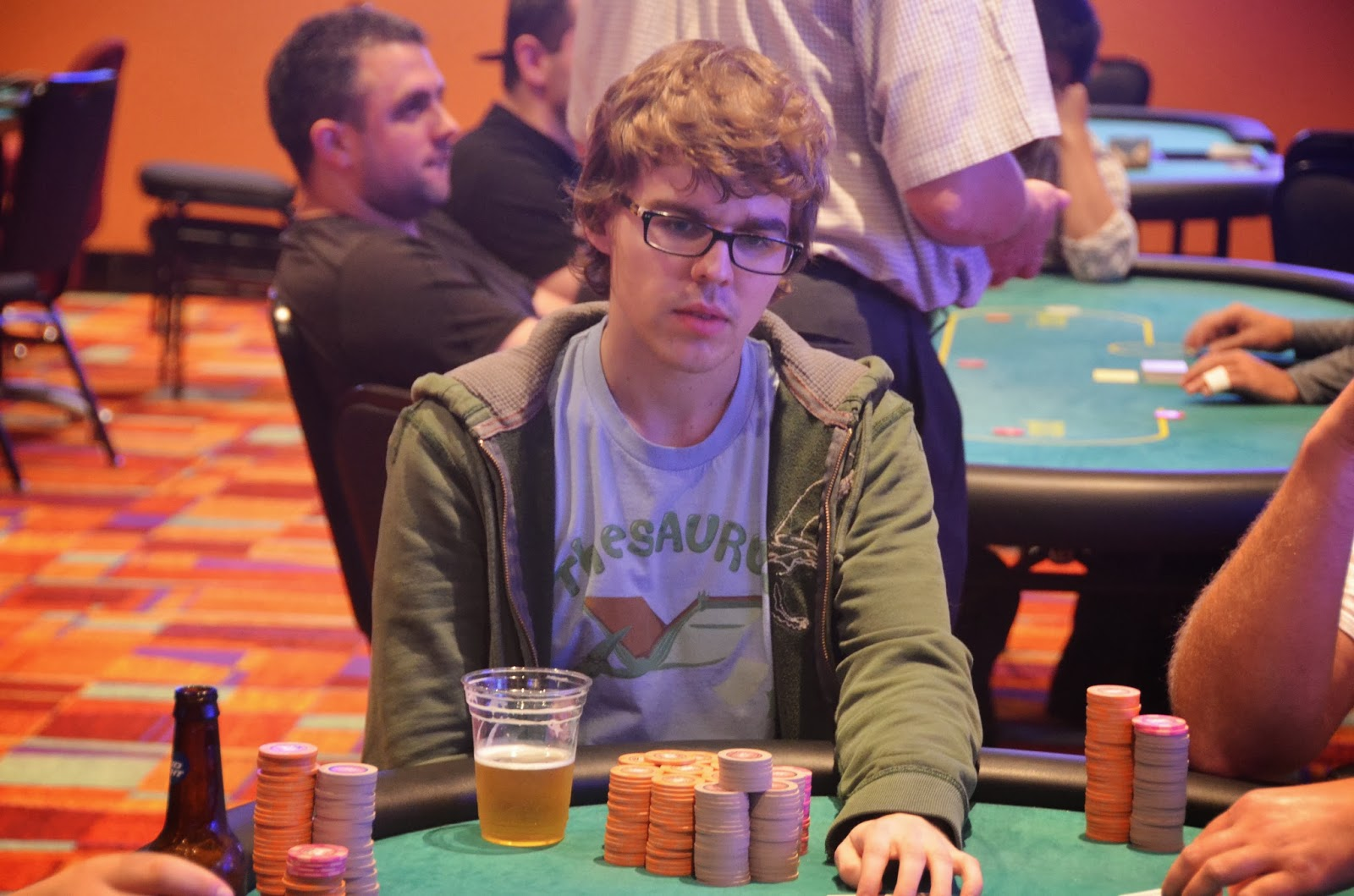 Parx big stax iv big stax 300 day 1a chuckie bagging heaps for Parx poker room live game report