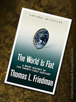 "Beauty shot picture of book by Thomas Friedman, ""The World Is Flat"", ""A Brief History of the Twenty-First Century"""