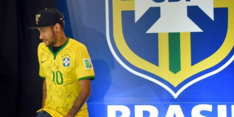 Tendangan Bebas Neymar Bawa Brasil Atasi Kolombia