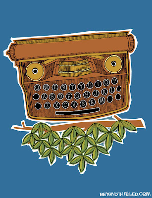 Owl typewriter illustration - Beyond Thrilled