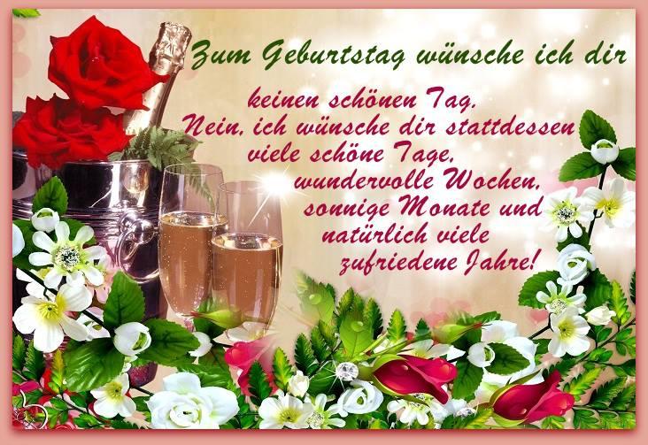 Wünsche Zum Geburtstag Blumen Glckwnsche