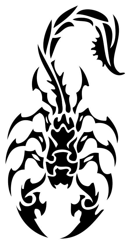 Scorpion tattoo design tattoo lawas for Simple scorpion tattoo