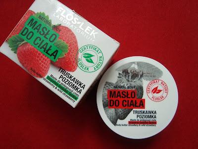 Masło do pielęgnacji ciała - truskawka & poziomka FLOSLEK