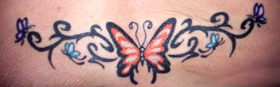 Lower Back Butterfly Tattoo Picture