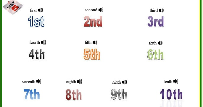 English is funtastic ordinal numbers 1st10th listening english is funtastic ordinal numbers 1st10th listening comprehension exercises ibookread PDF